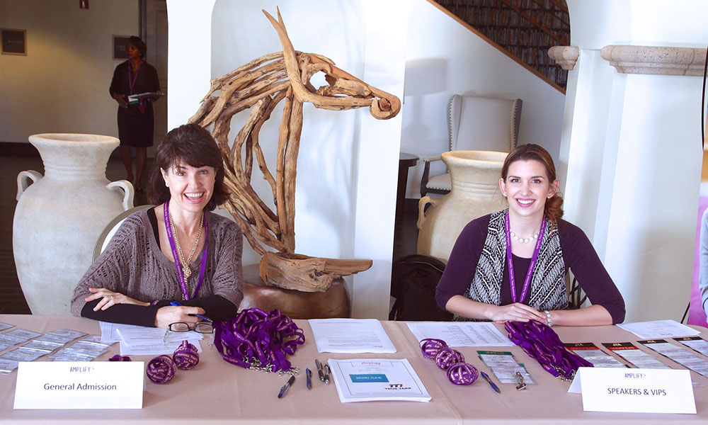 registrars at table for Amplify conference